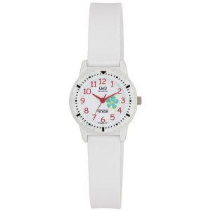 Dziecięcy zegarek firmy Q&Q (Citizen). Klasa szczelności 100M, koperta i pasek z tworzywa  sztucznego . 2 lata gwarancji.